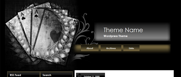 SILVER CARDS TEMA WORDPRESS