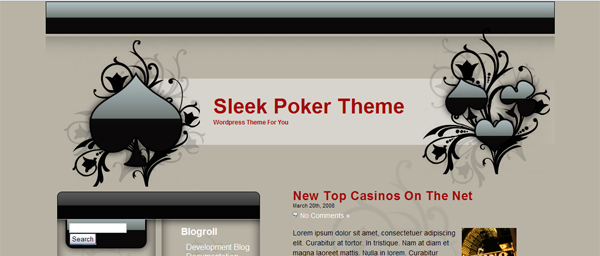 TEMA WORDPRESS SLEEK POKER